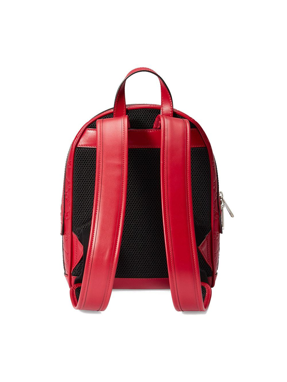 dc703c4728cb Lyst - Gucci Signature Leather Backpack in Red for Men