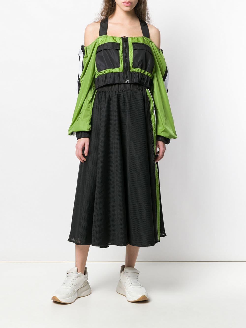 Falda de malla con raya lateral NO KA 'OI de Tejido sintético de color Negro