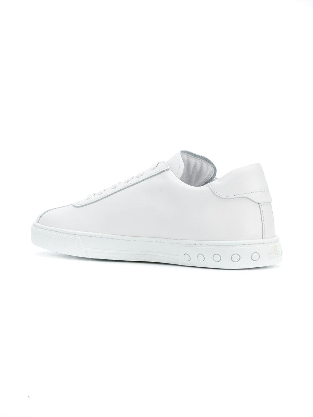 separation shoes bb448 d331b tods-White-Logo-applique-Lace-up-Sneakers.jpeg