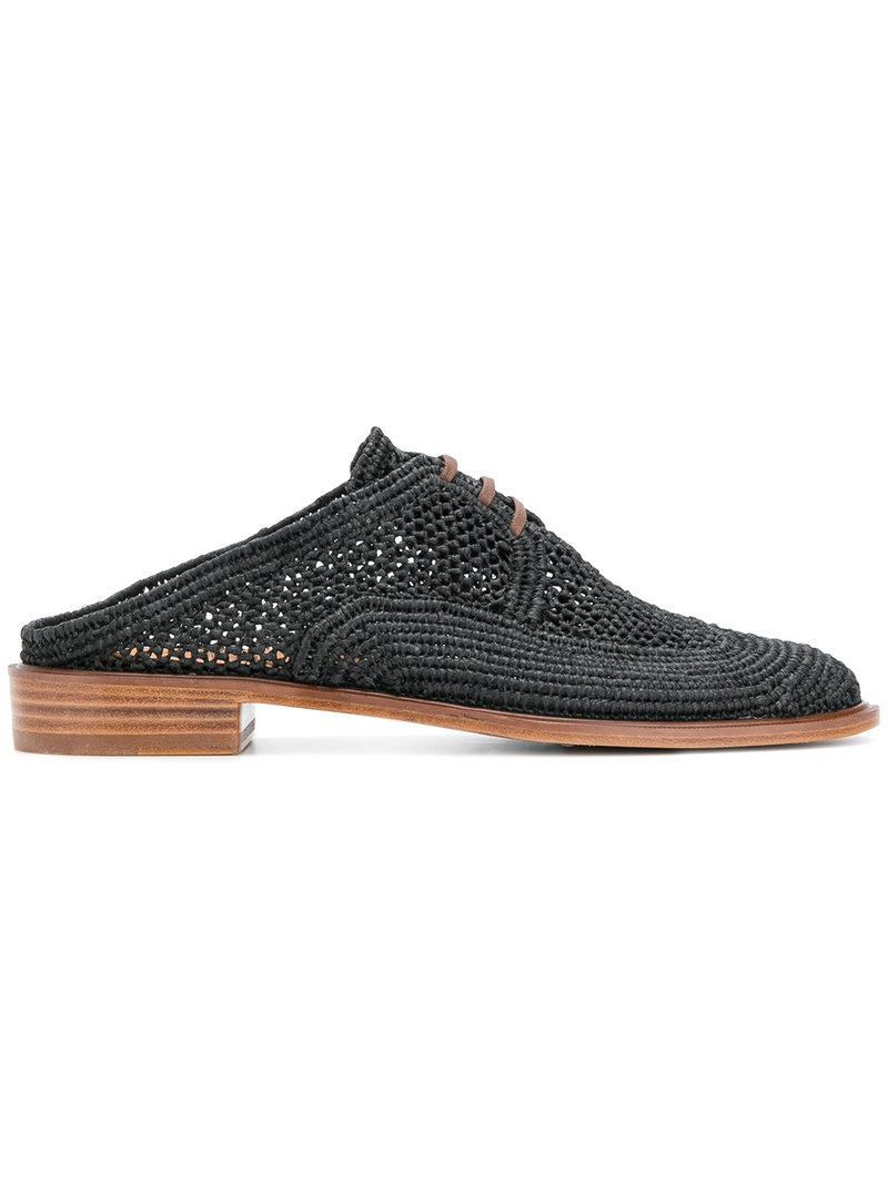 Robert Clergerie Jaly Brogue Mules Discount View Outlet Excellent Good Service Discount Footlocker Finishline Cheap Sale Purchase ukhBTm