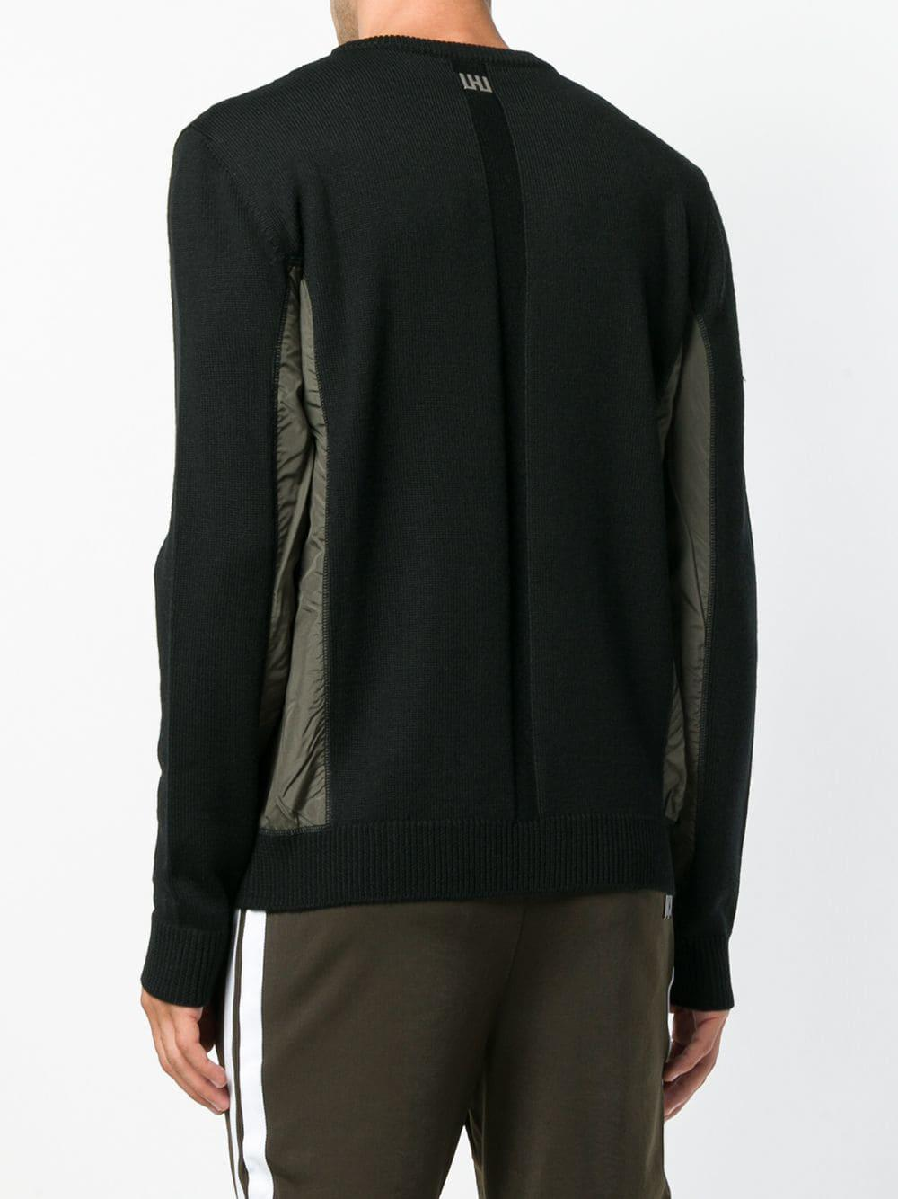 Hommes For Contrasting View Panel Men Black Sweater Lyst Les Fullscreen wXdqnSE7X