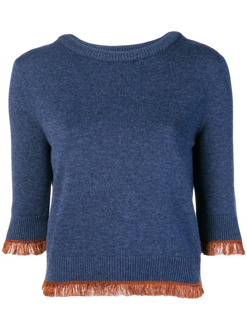 Cheap Sale Online Chloé cropped fringe sweater Discount Clearance ZYviV