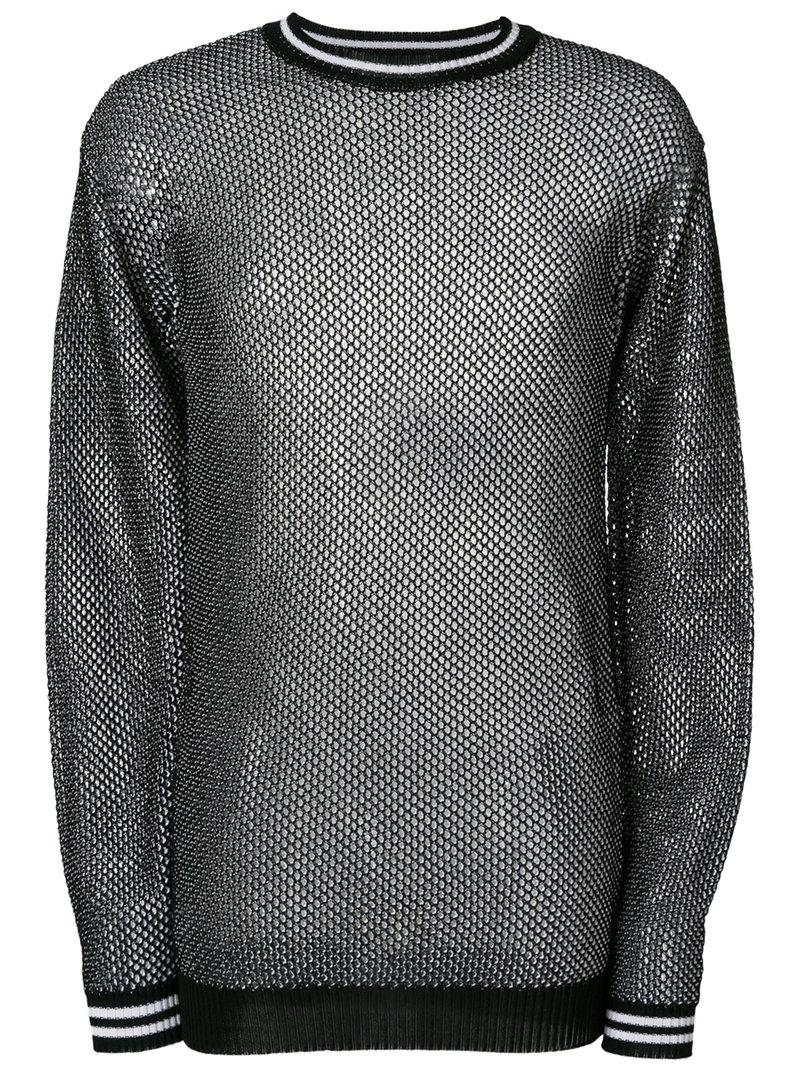 e7abcd5367 Lyst - Diesel Black Gold Honeycomb-knit Sweater in Black for Men