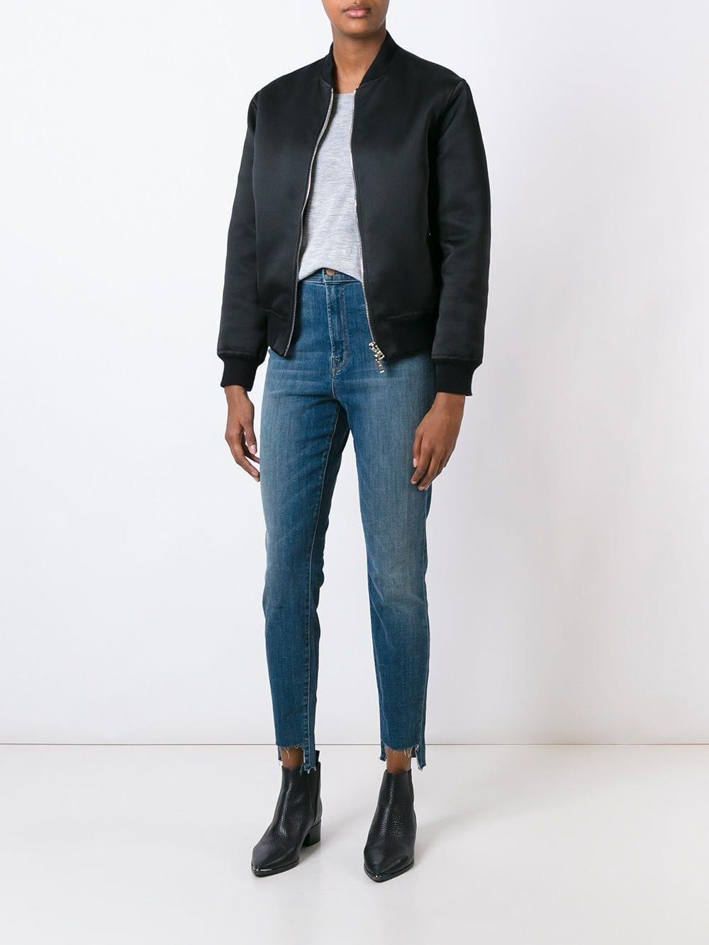 J Brand Denim High-rise Cropped Skinny Jeans in Blue