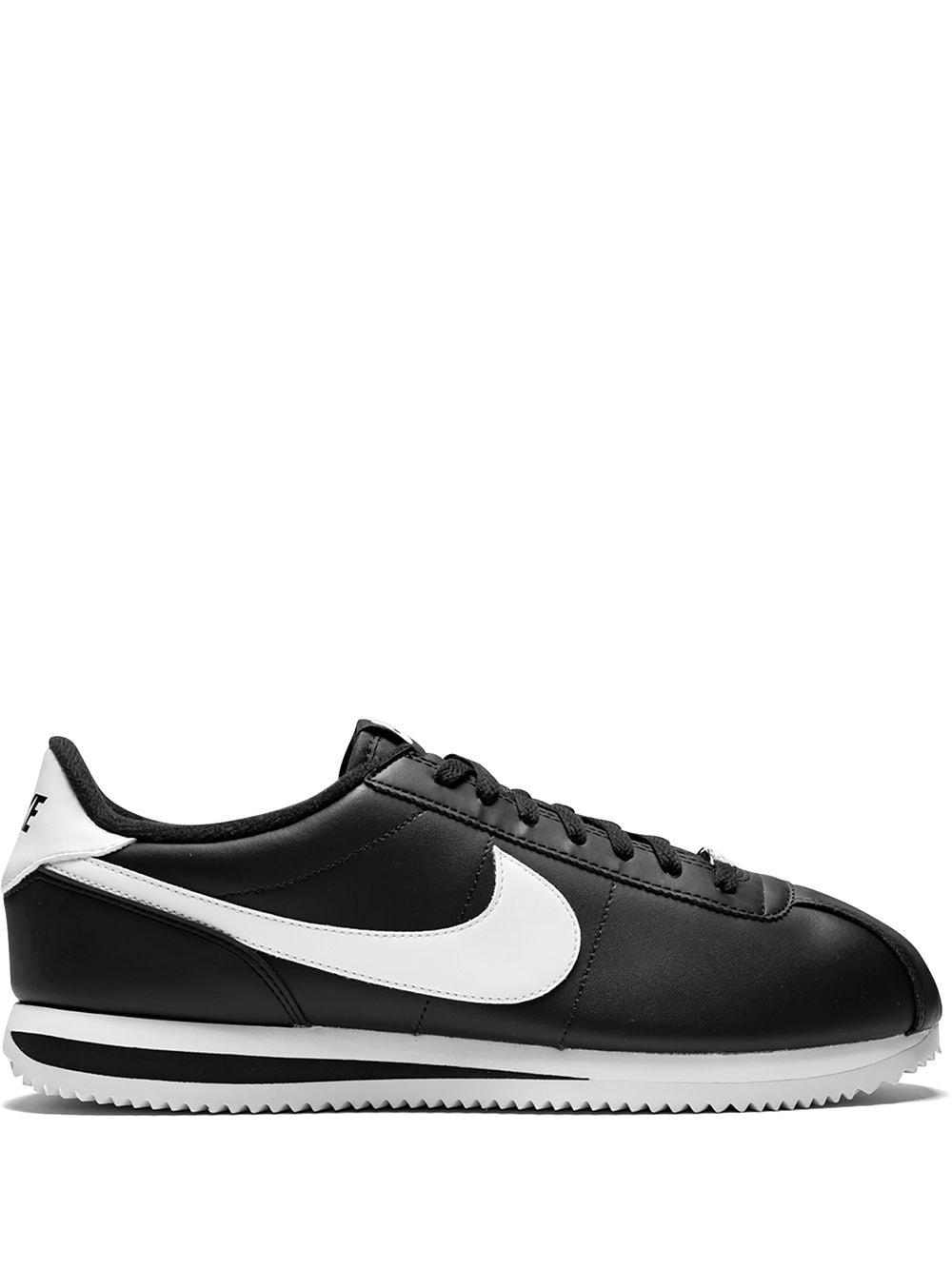 Nike Cortez Leather Trainers in Black for Men - Save 29% - Lyst