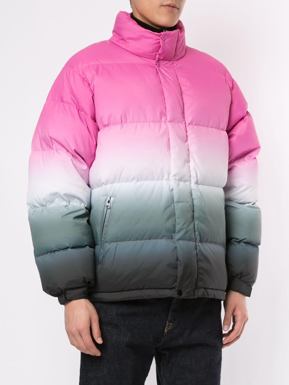 Supreme Gradient Puffer Jacket In Pink For Men - Lyst