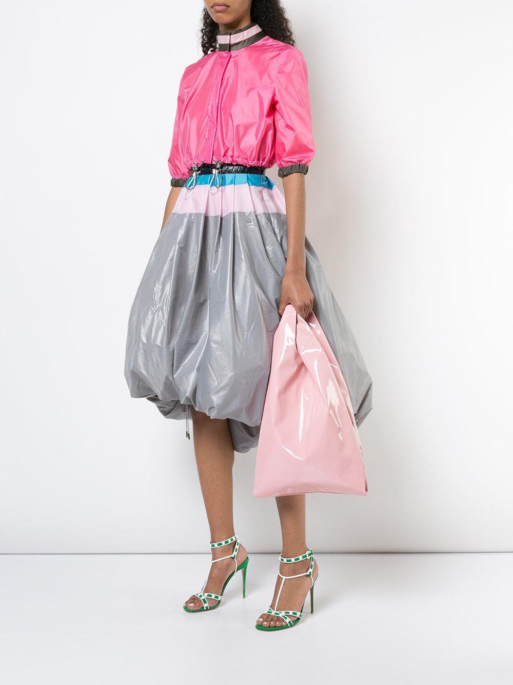 Hayward Suede Shopper Tote in Pink & Purple (Pink)