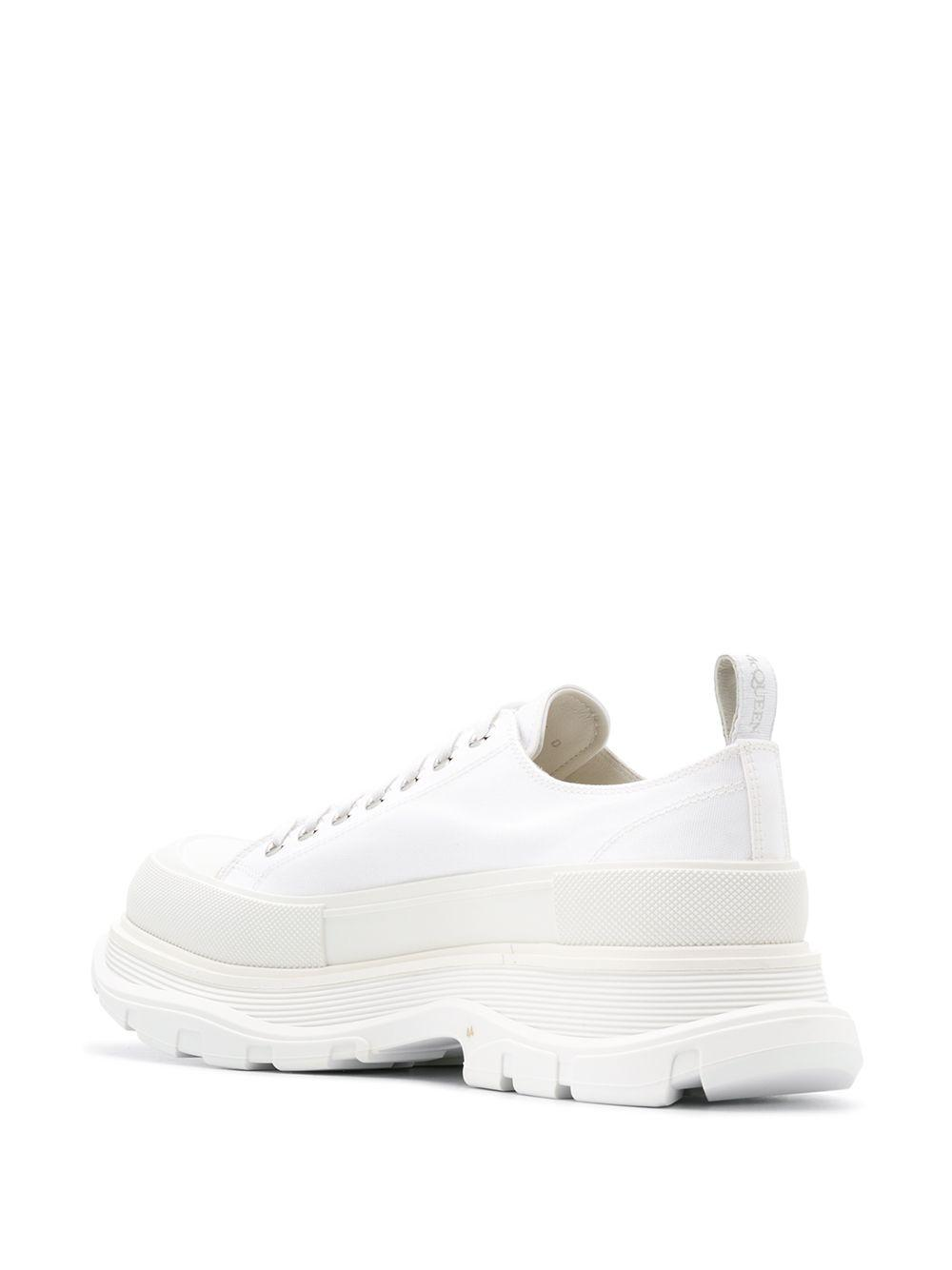 Alexander McQueen Katoen Chunky Low-top Sneakers in het Wit voor heren