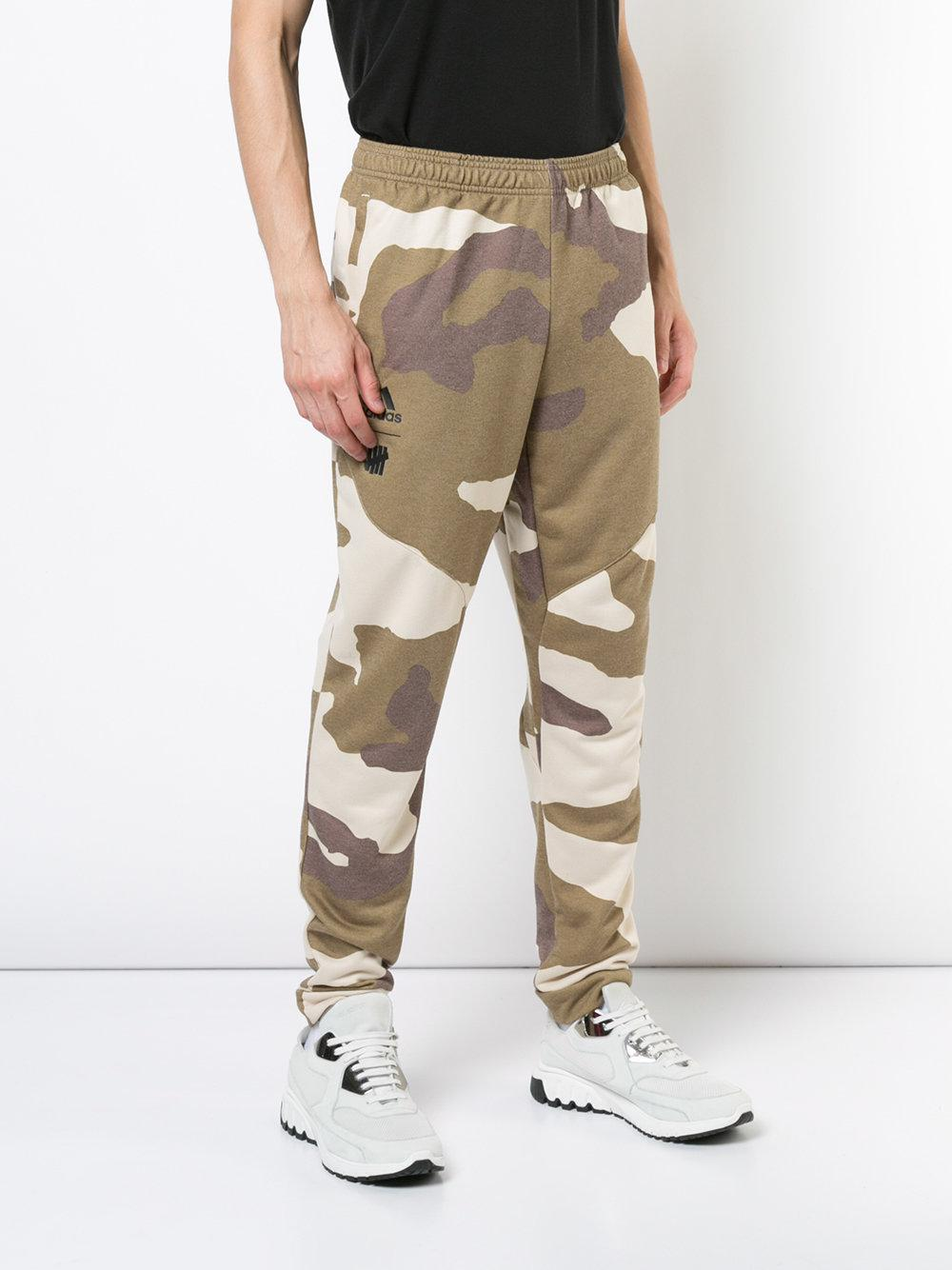 adidas Synthetic Undefeated Camouflage Trousers in Green for Men