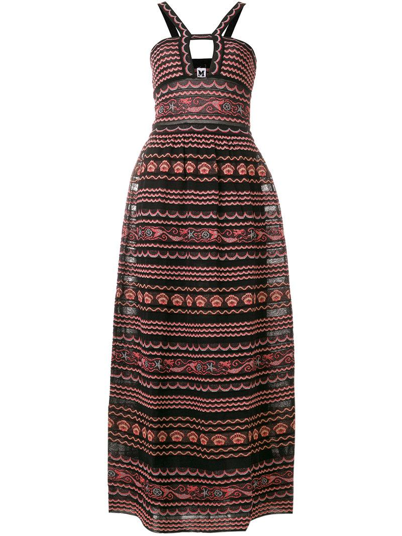 mixed-pattern long dress - Black M Missoni Sale Countdown Package Buy Cheap Limited Edition Outlet Order Newest Sale Online FECUz2jf