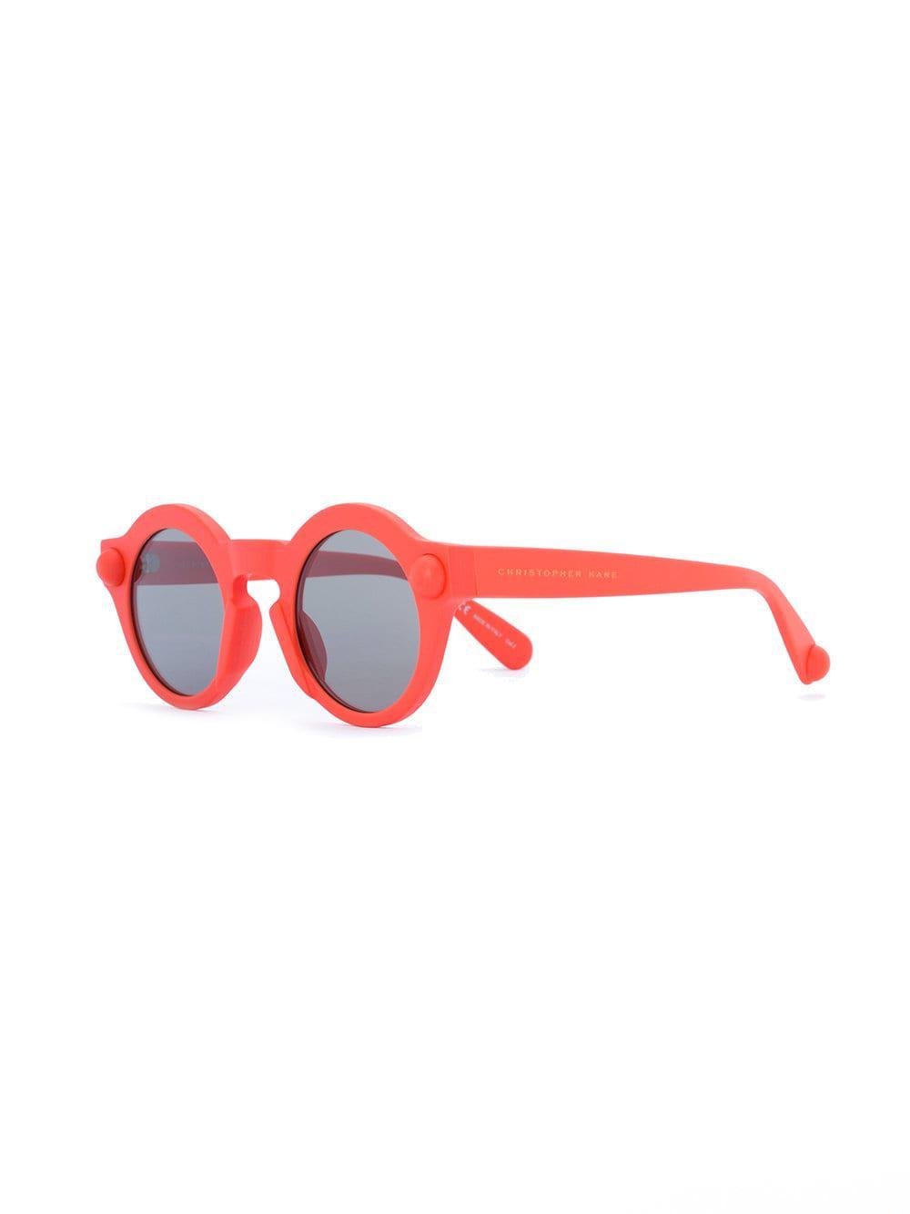 8f45e5fc1a Christopher Kane - Yellow Round-frame Sunglasses - Lyst. View fullscreen