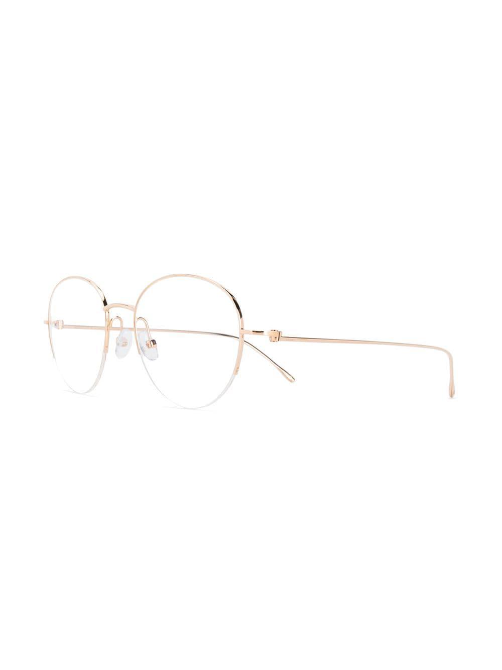 46153ab246c Cartier Louis Glasses in Metallic for Men - Lyst