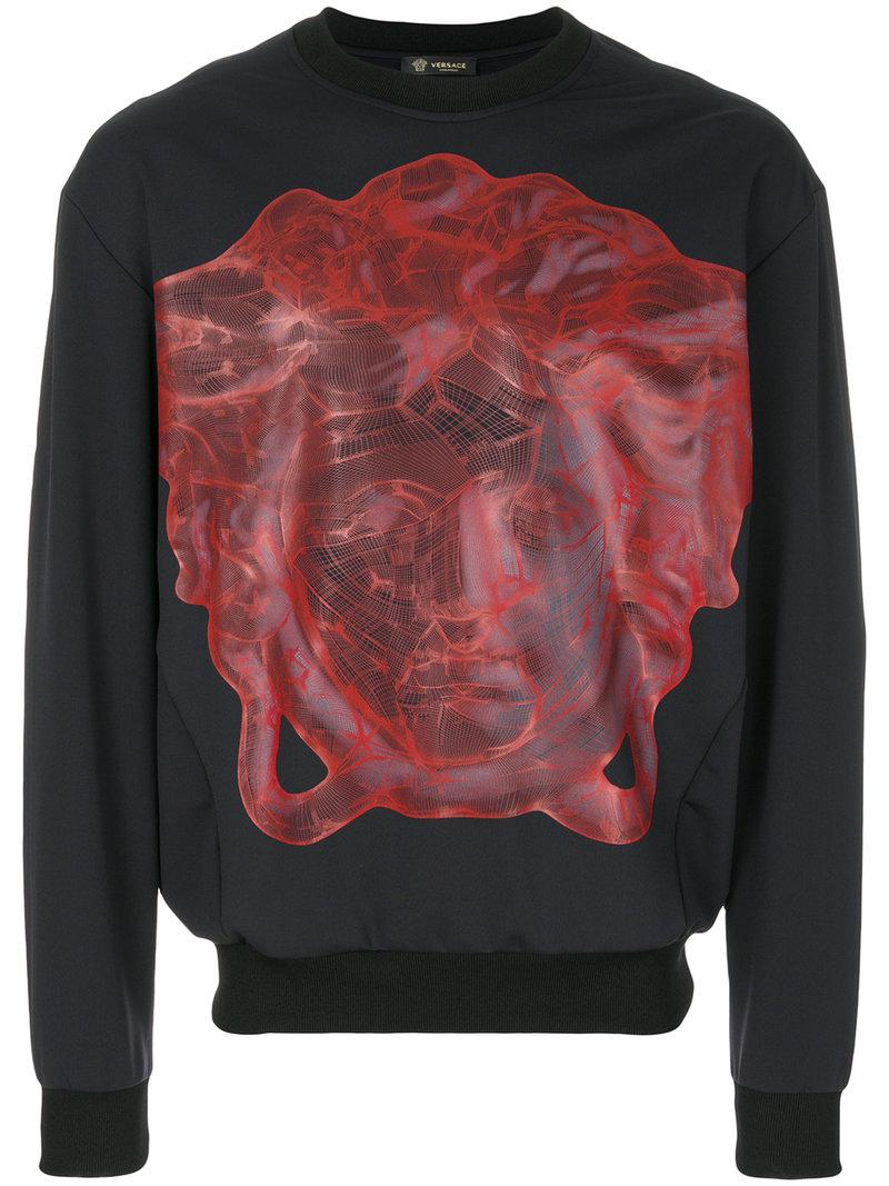 Recommend Cheap Clearance Low Shipping Medusa print jumper - Grey Versace Sale Excellent EGAkjVJP
