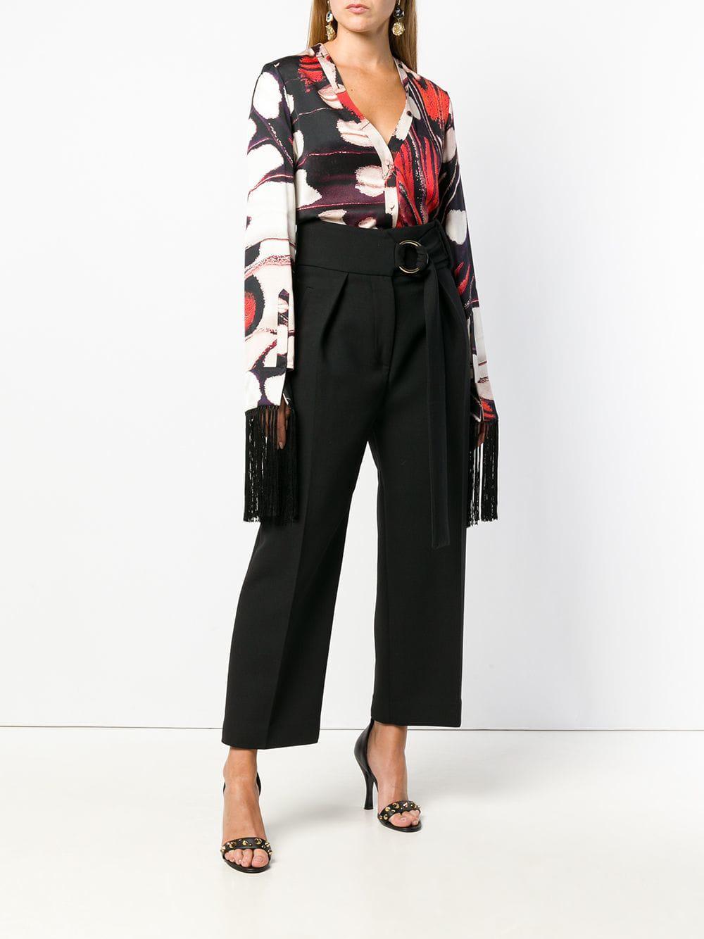 Butterfly print blouse Soie Alexander McQueen en coloris Noir