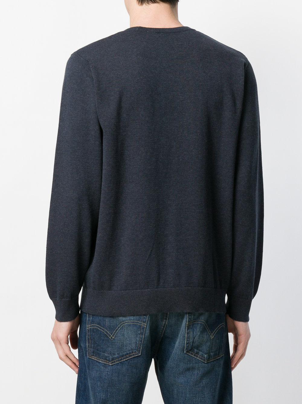 Carhartt Cotton Round Neck Jumper in Blue for Men