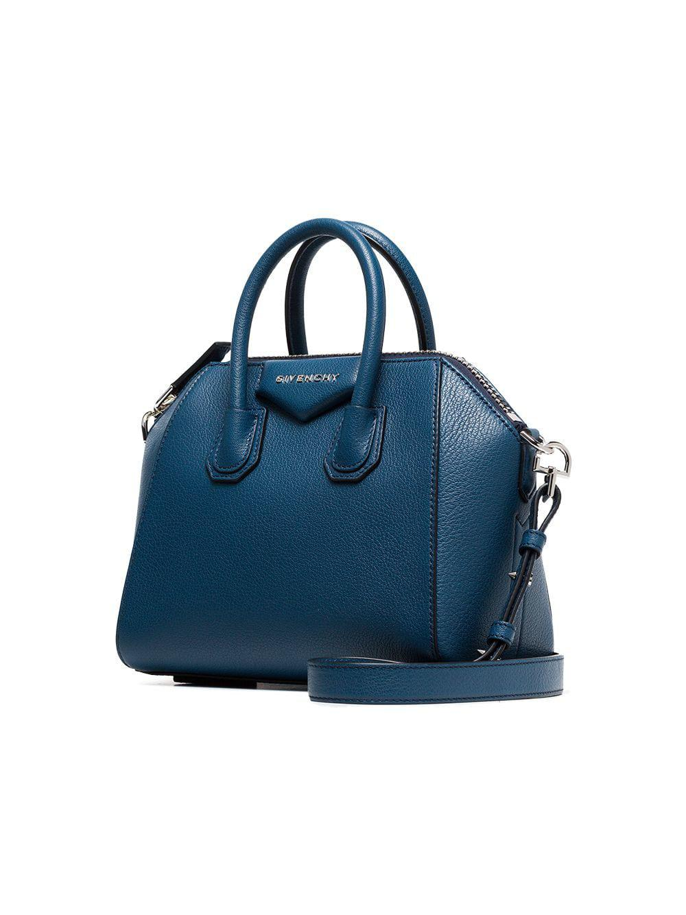 best authentic 5fe47 561e7 Givenchy - Blue Antigona Mini Leather Tote - Lyst . 667153a3c2