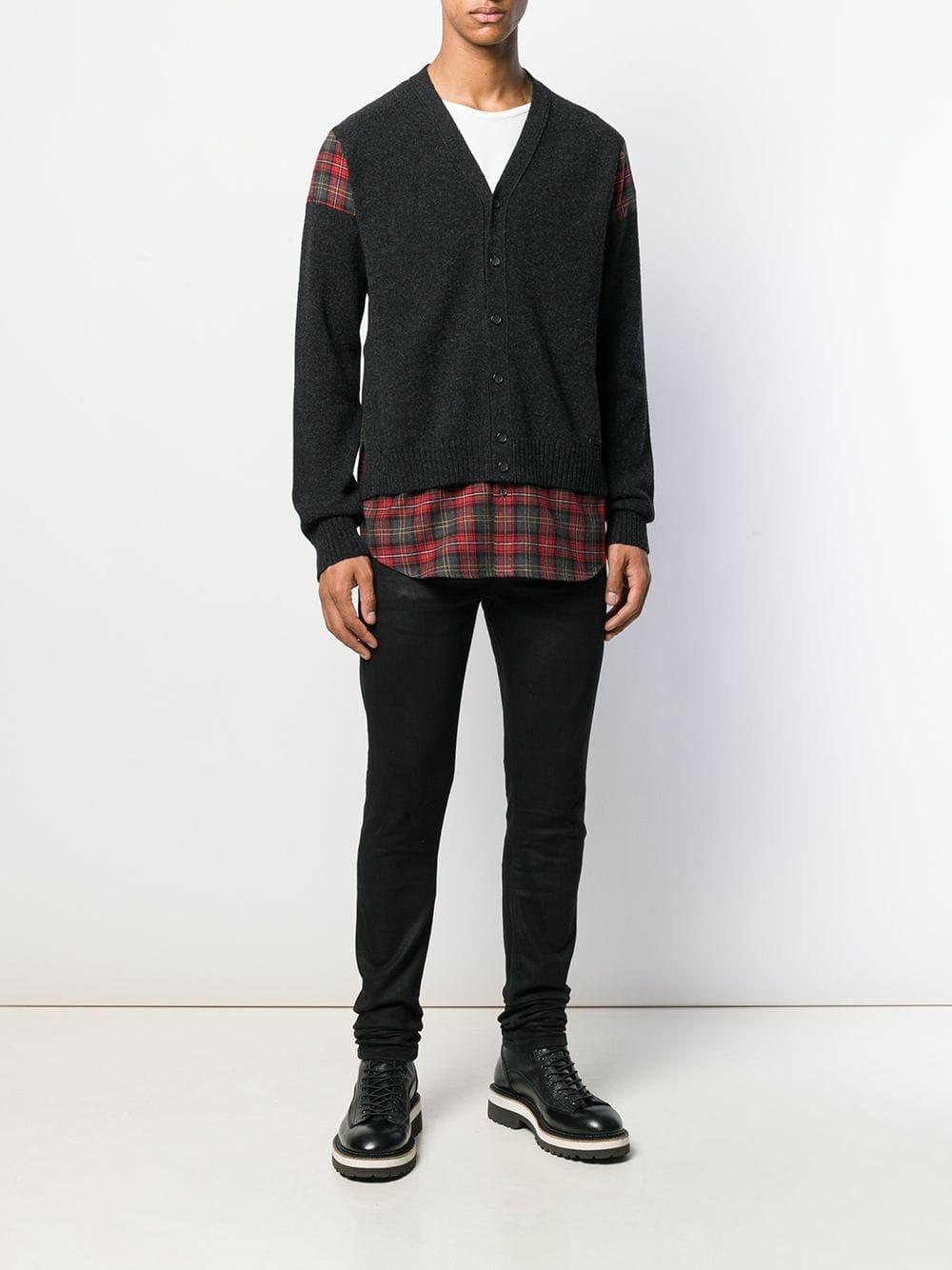 DSquared² Wol Geruit Vest in het Zwart voor heren