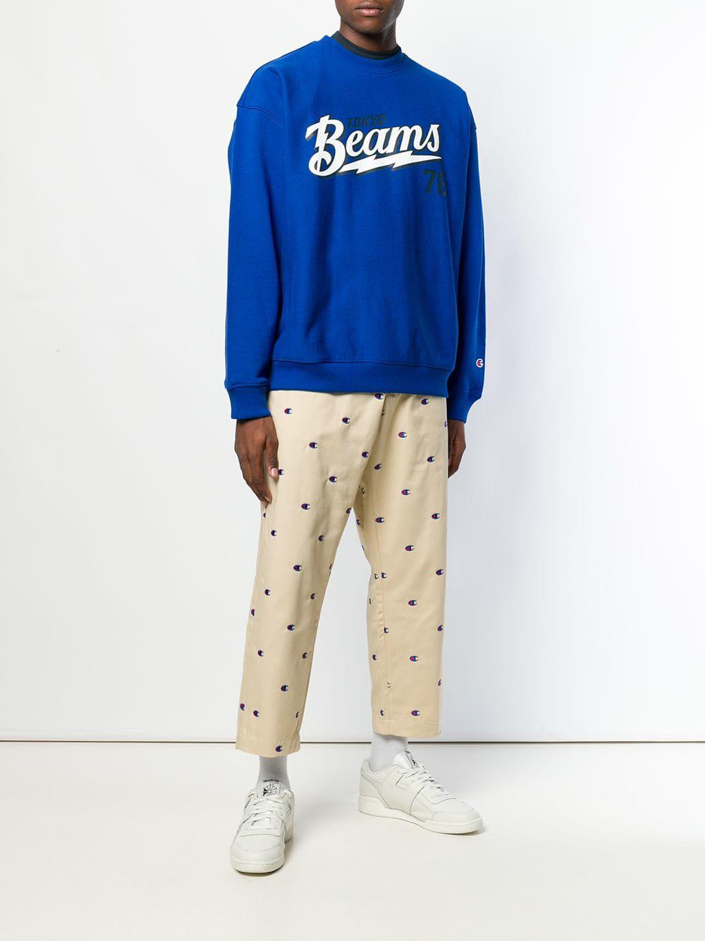 4ec9ca8b0123 Lyst - Champion X Tokyo Beams Crew Neck Sweatshirt in Blue for Men