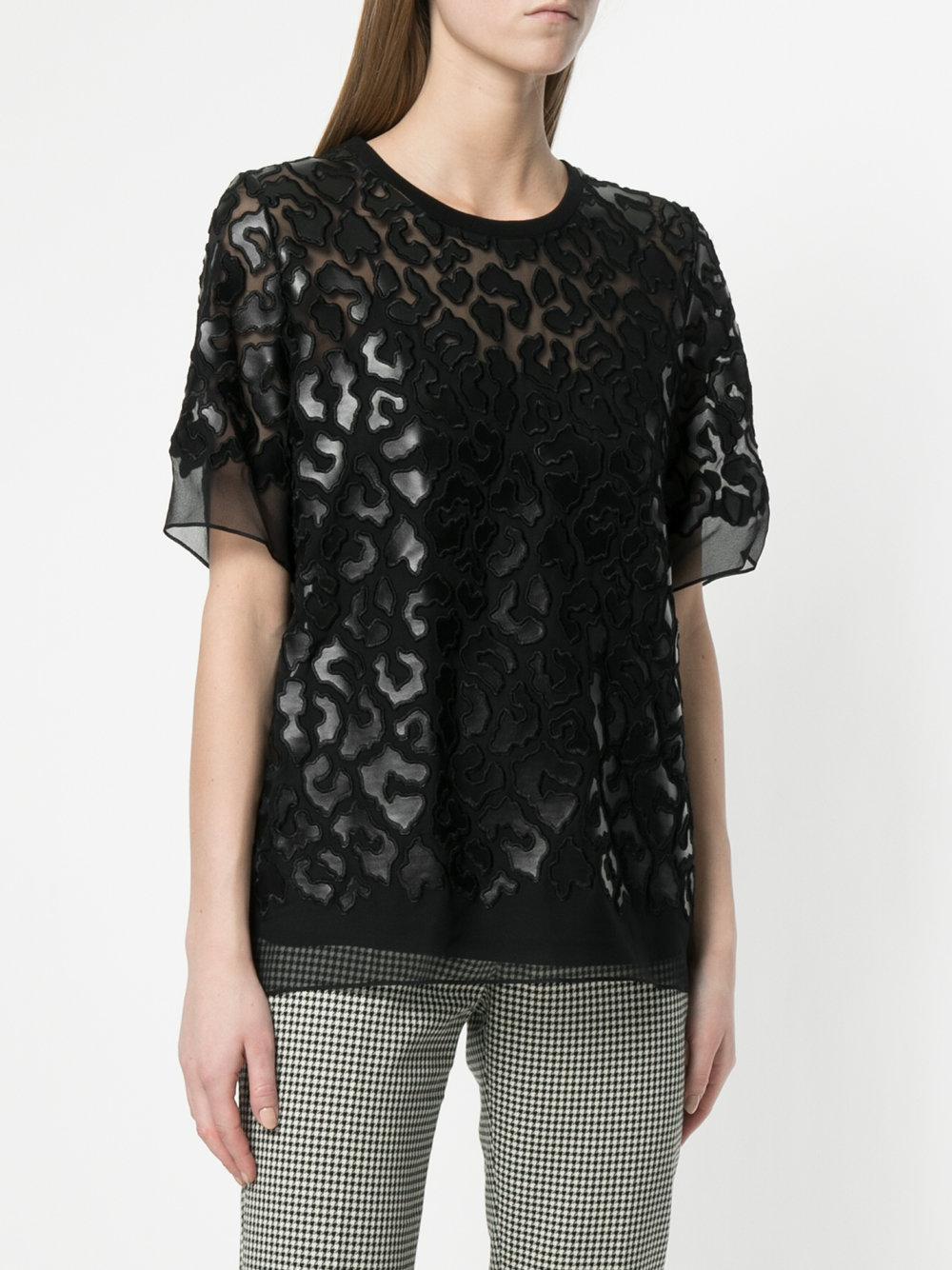 de con estampado leopardo parche Stella con camiseta transparente Mccartney  IxXqXzaY 29c2465e4f2