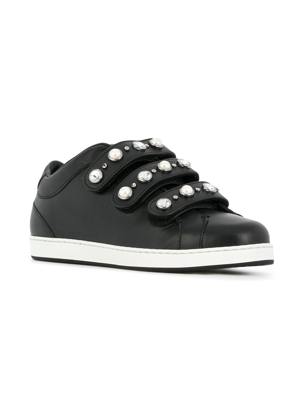 Jimmy Choo Leather Ny Sneakers in Black