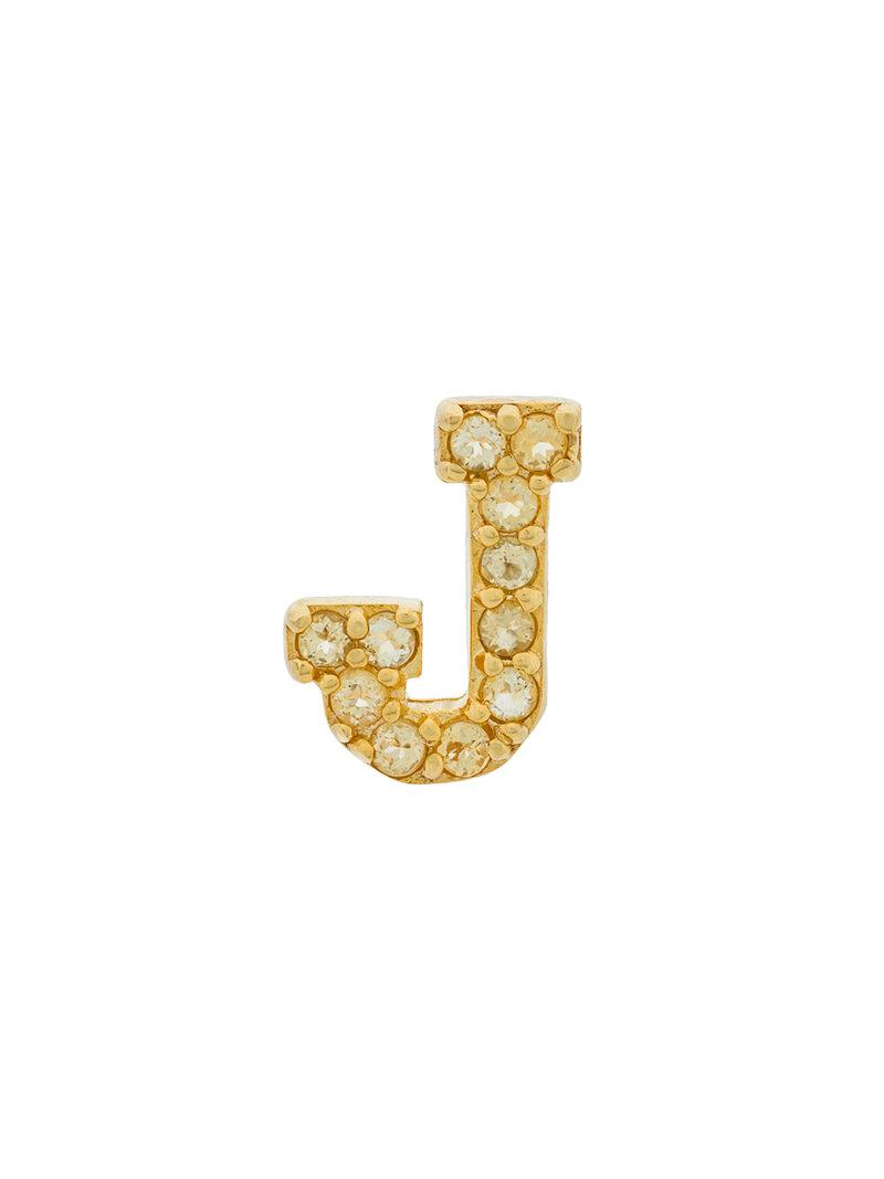 Marc Jacobs J crystal earrings - Metallic nxTgJ