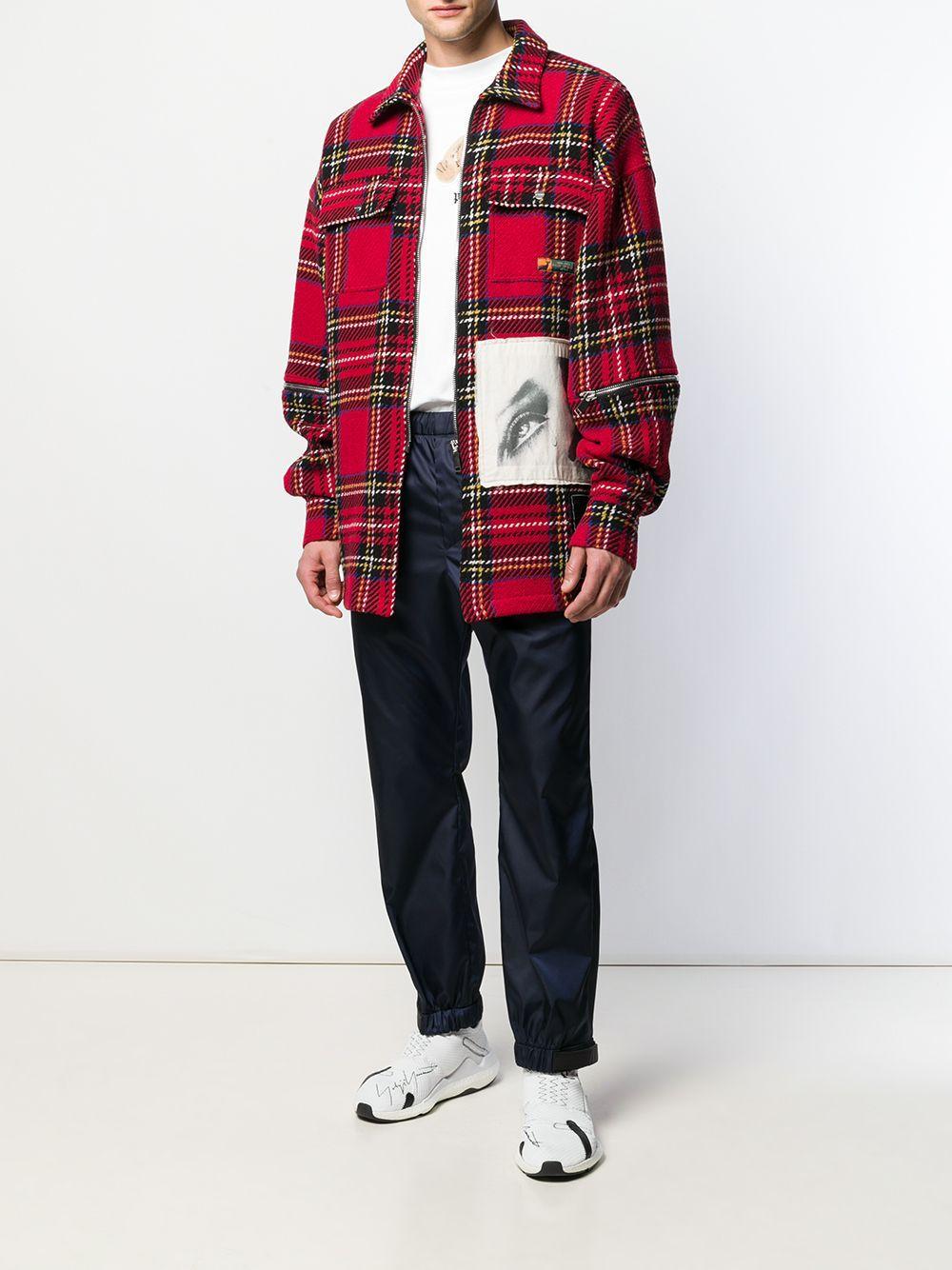 Palm Angels Synthetisch Shirtjack Met Patch in het Rood voor heren
