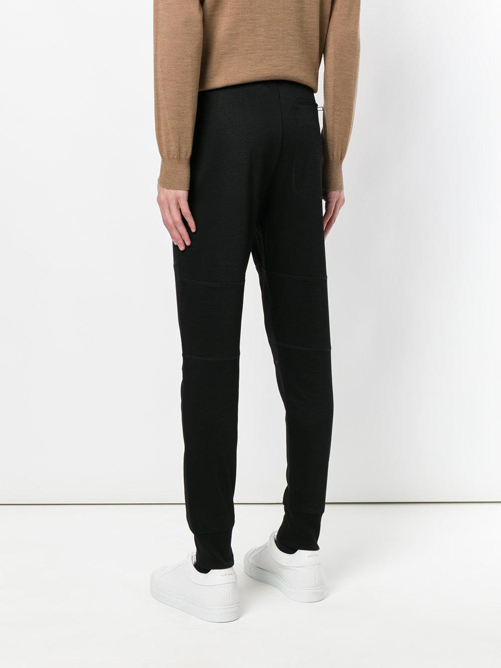 PS by Paul Smith Cotton Slim-leg Tracksuit Bottoms in Black for Men