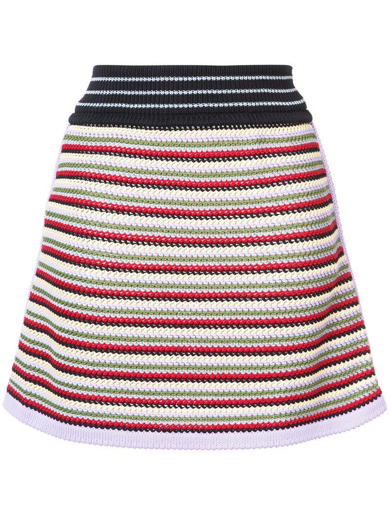 Alexa Chung Woman Ruffled Organza-trimmed Cotton-velvet Mini Skirt Black Size 16 AlexaChung G71ONWcM