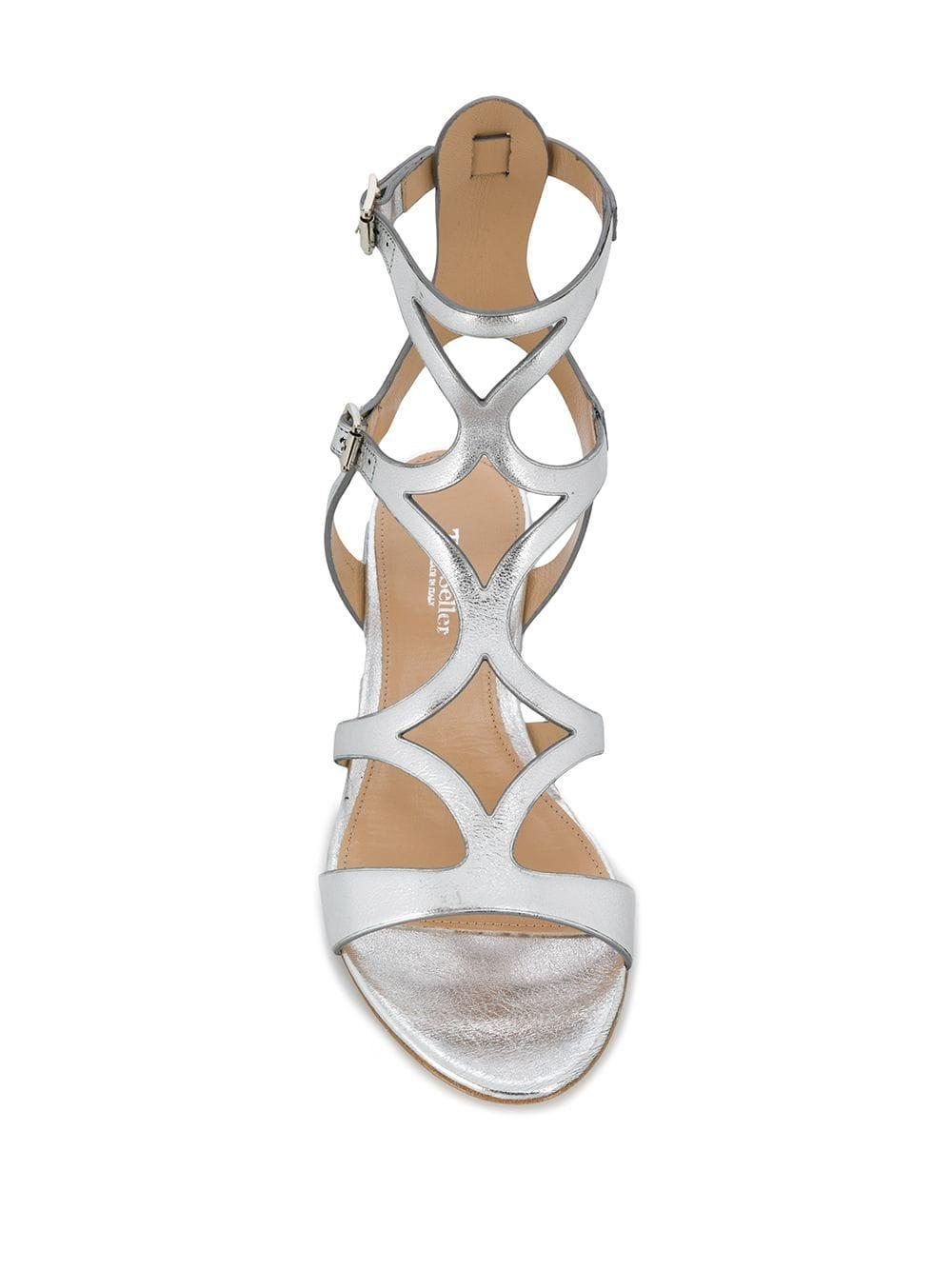 bd1a0b4e908d The Seller - Flat Metallic Sandals - Lyst. View fullscreen
