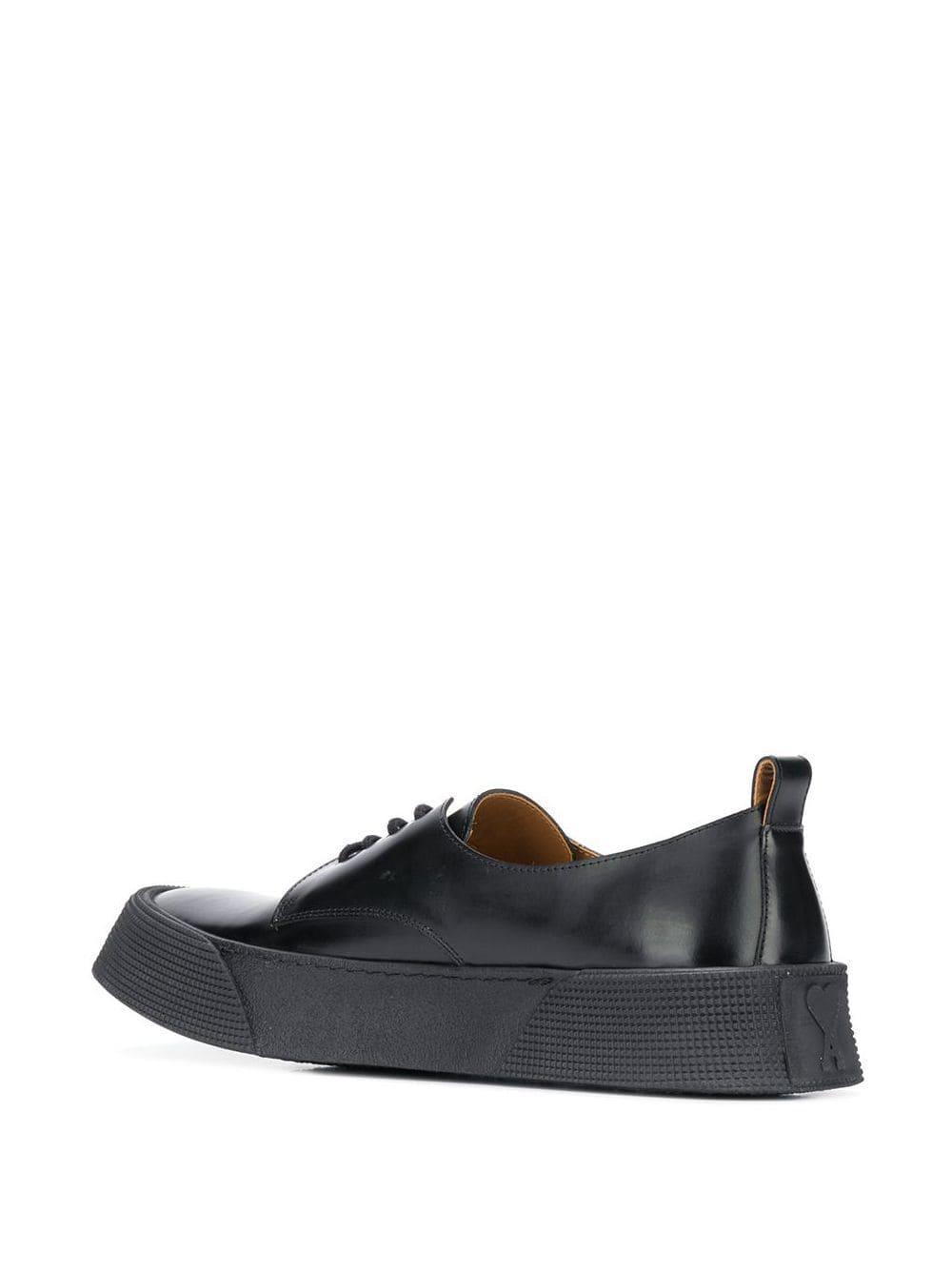 AMI Leer Derby Schoenen in het Zwart voor heren