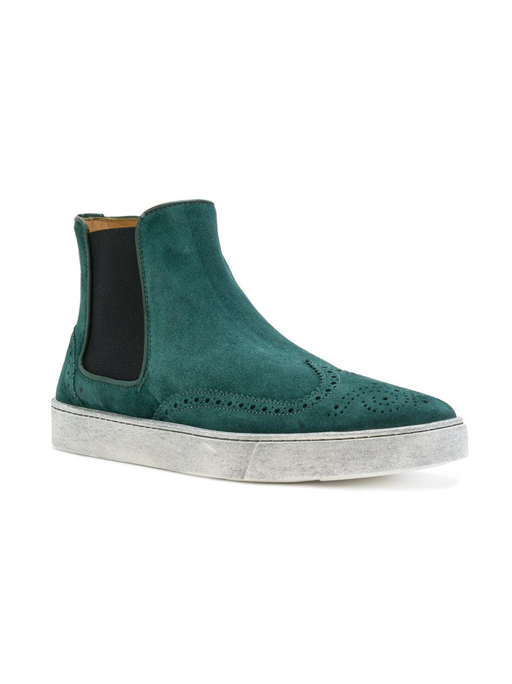 Green In Boots Lyst Santoni Ankle Brogue q4I1X