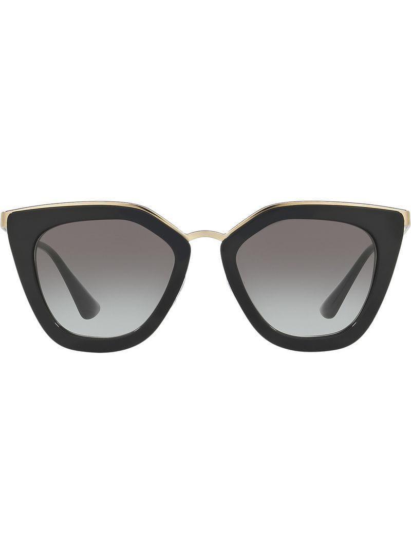0b6a200cbd Gafas de sol cat eye Prada de color Negro - Lyst