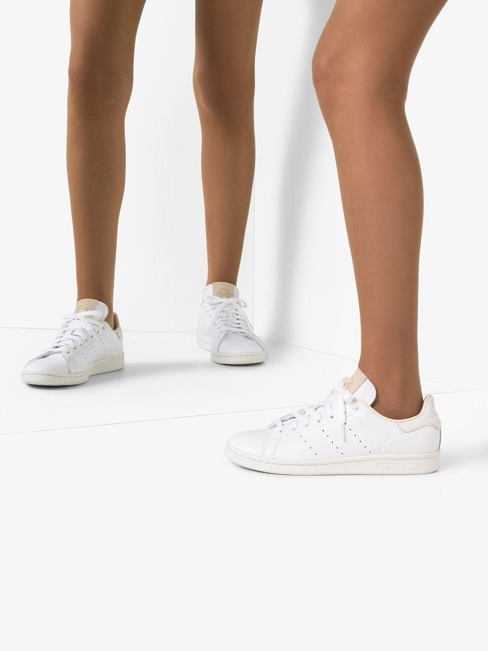 Zapatillas Stan Smith con cordones adidas de Cuero de color Blanco