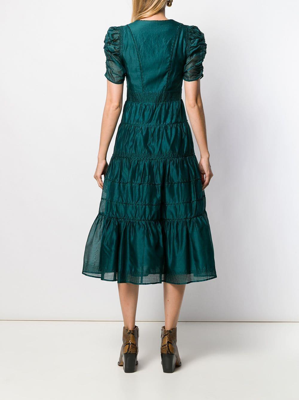 Robe Odile Coton Ulla Johnson en coloris Vert