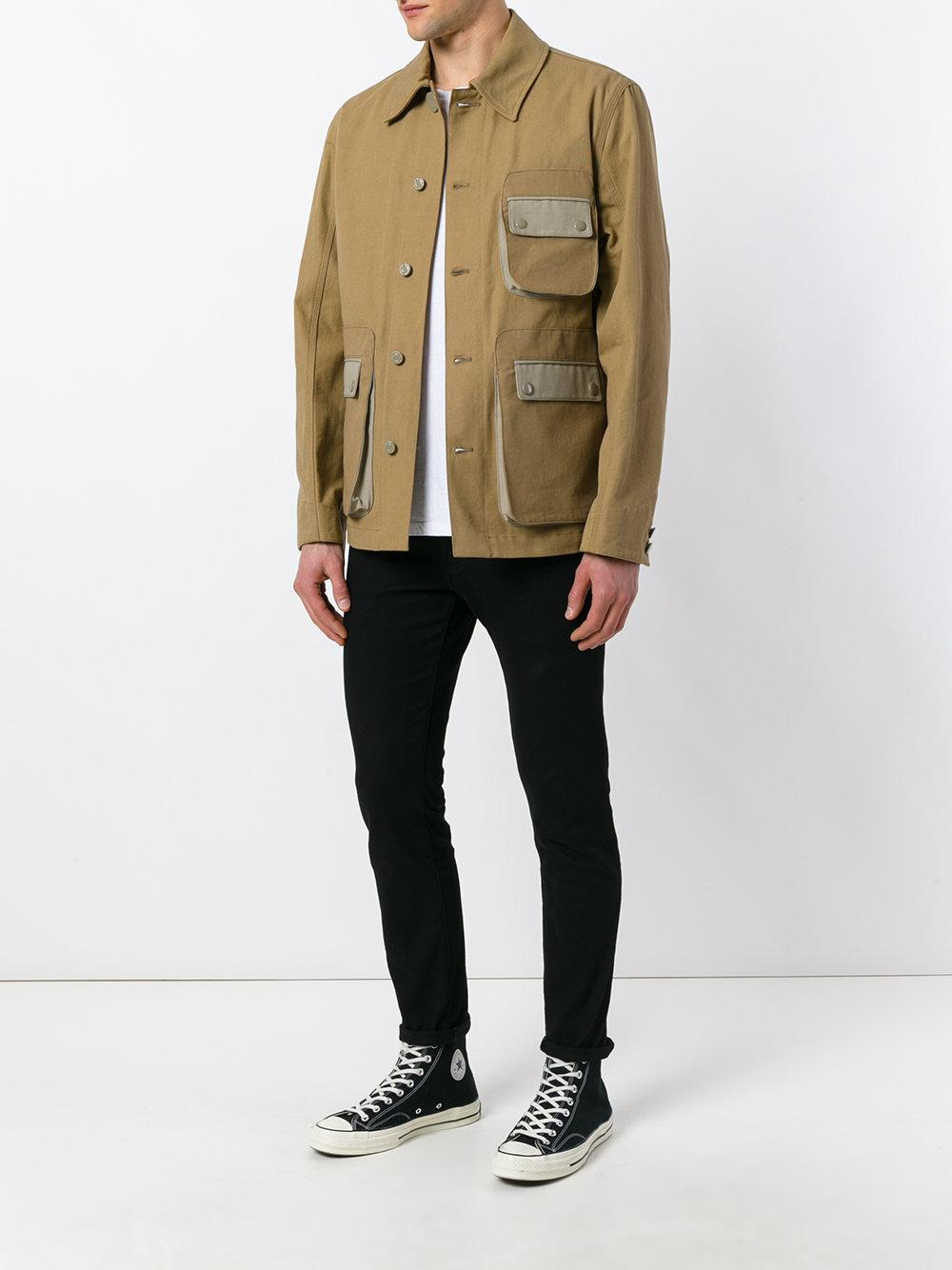 Givenchy Cotton Field Jacket in Natural for Men