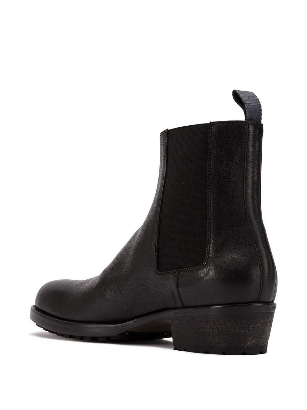 Haider Ackermann Leer Zwarte Classic Leren Chelsea Laarzen in het Zwart voor heren