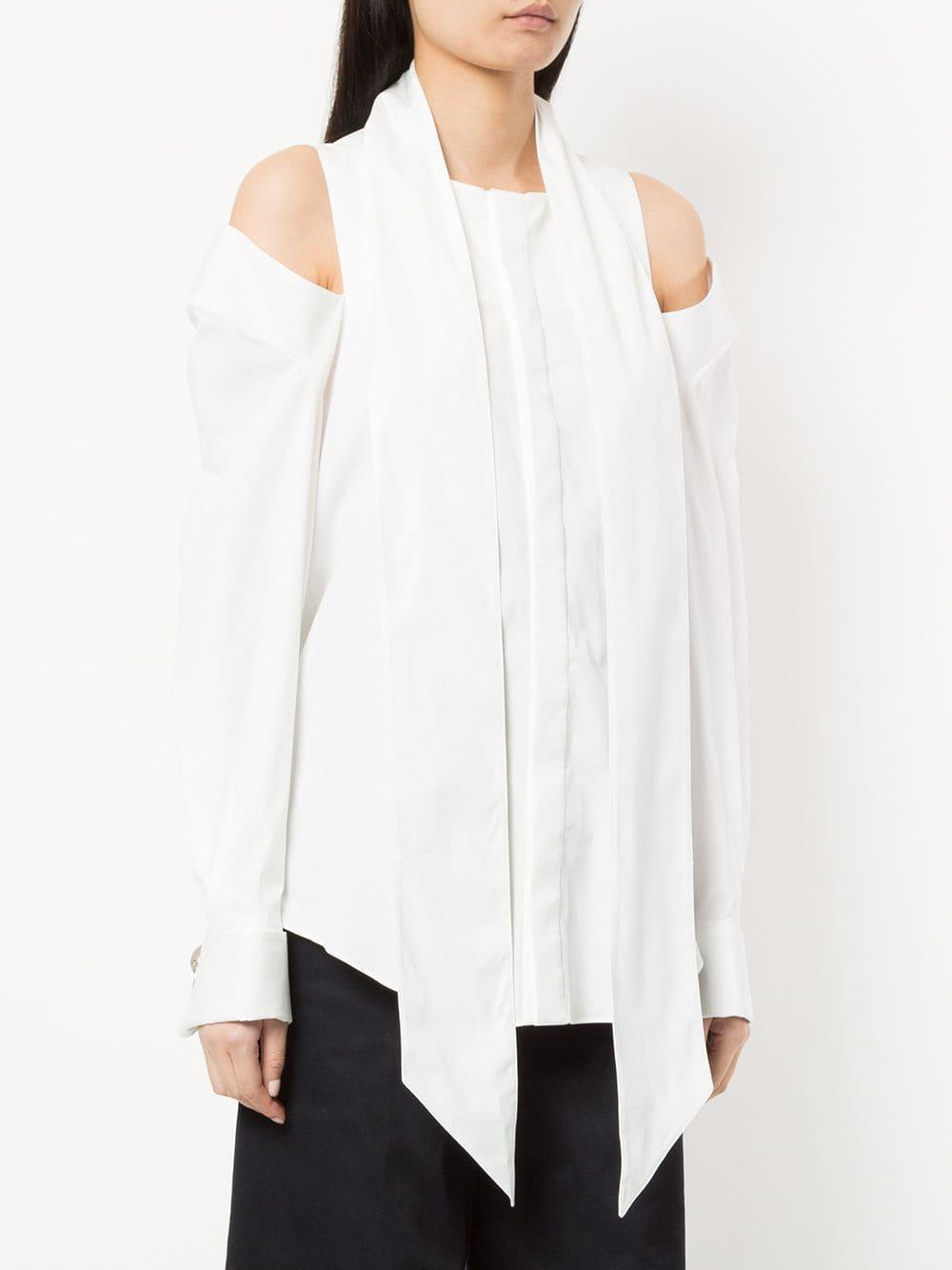 Camisa con aberturas en los hombros Monse de Algodón de color Blanco