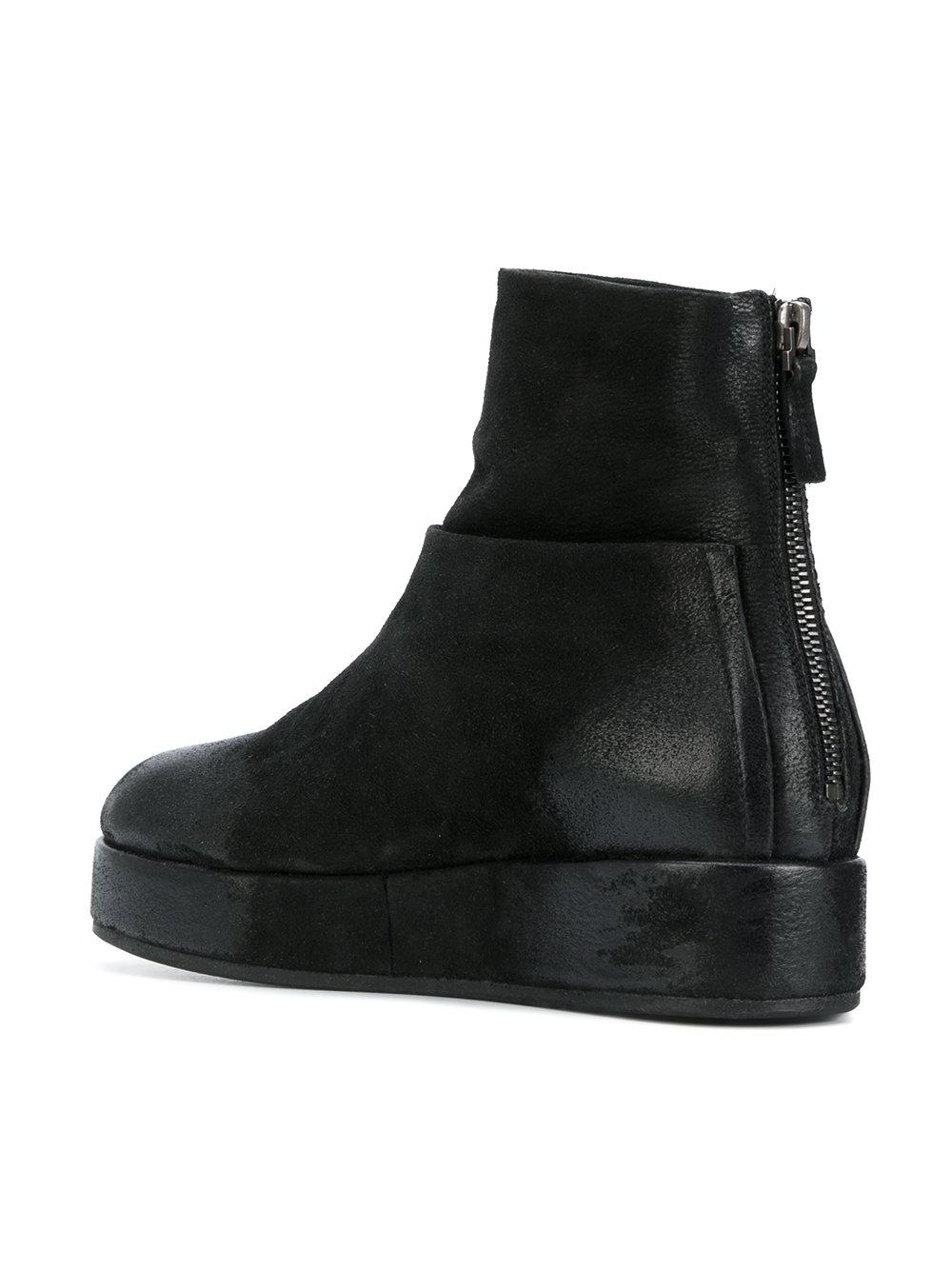 Mars 232 Ll Leather Layered Platform Boots In Black Lyst