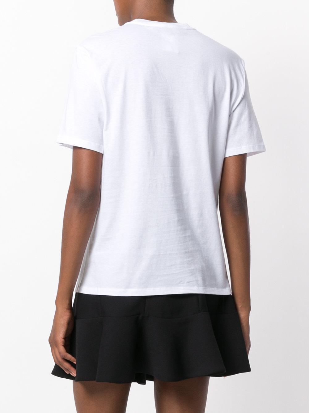 Lyst Alexander Wang Barcode Logo Printed T Shirt In White