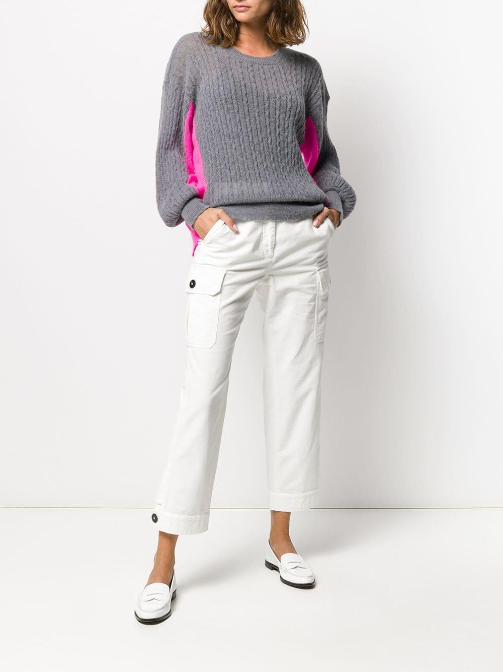 Pantalon slim à poche à rabat Coton Incotex en coloris Blanc