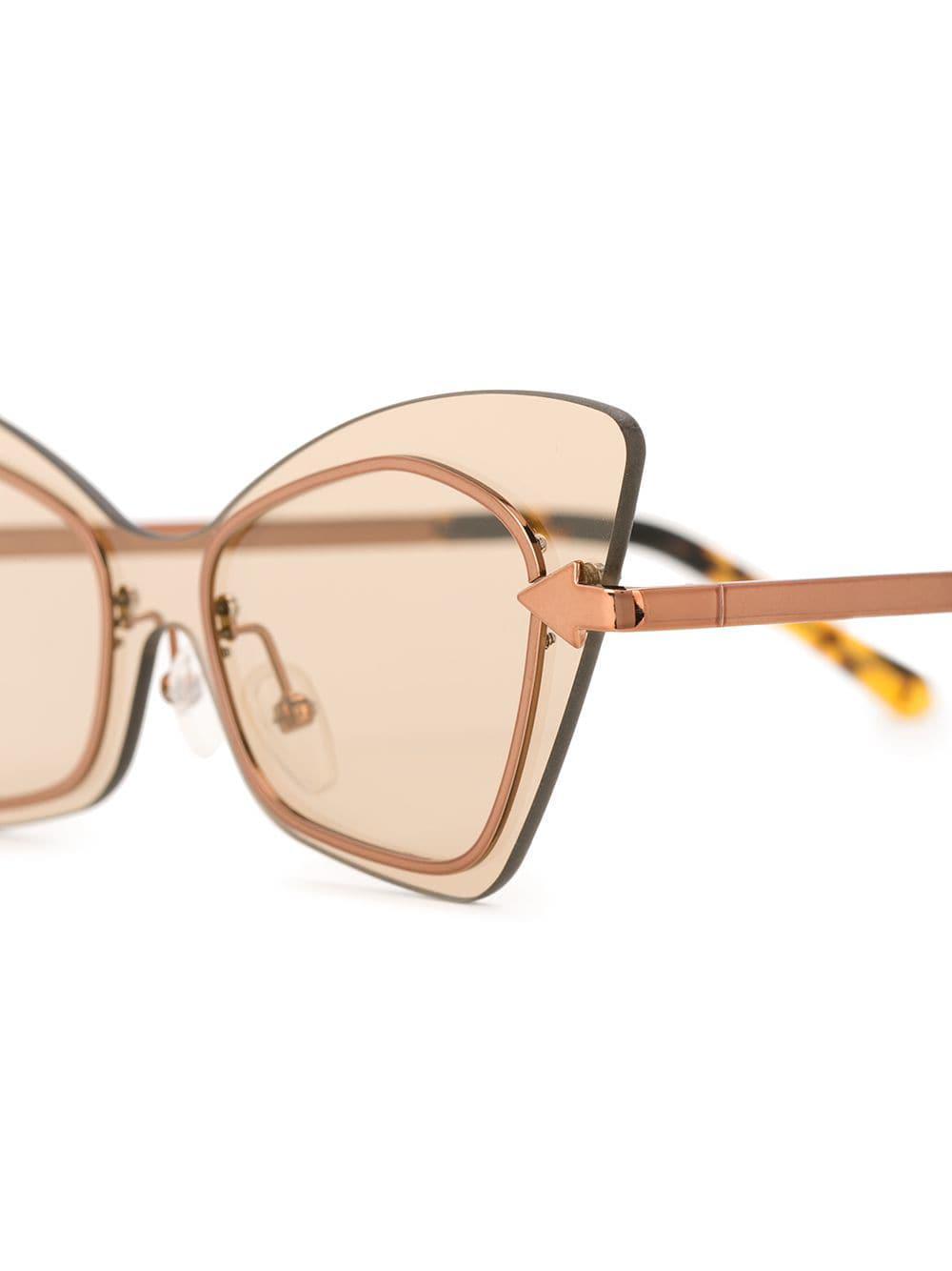 b38d8c7527 Lyst - Karen Walker Mrs Brill Crazy Tort Sunglasses in Brown