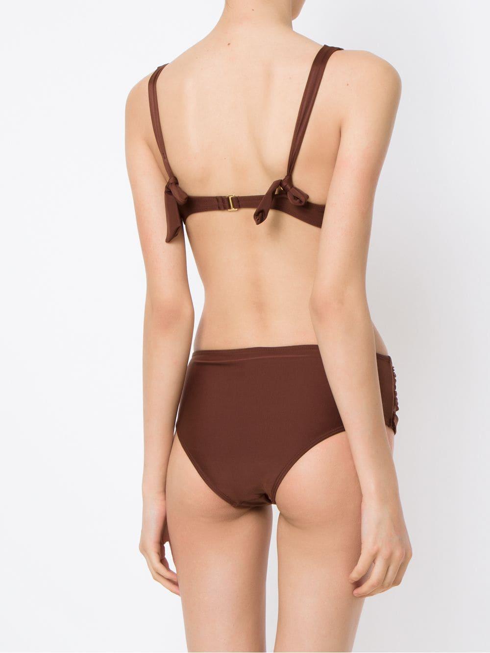 Bikini set Synthétique Lygia & Nanny en coloris Marron