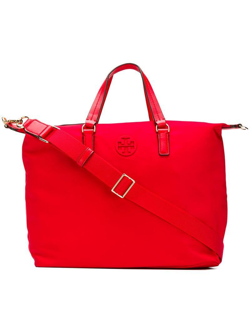 8d8ebba04b8e Tory Burch Tilda Small Tote in Red - Lyst