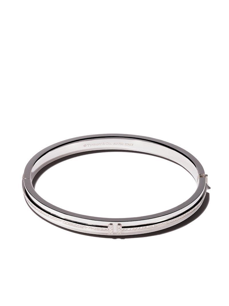 Or Blanc 18 Carats Tiffany T Sourire Bracelet Diamant - Tiffany & Co Métallique. VYrqXCepQ