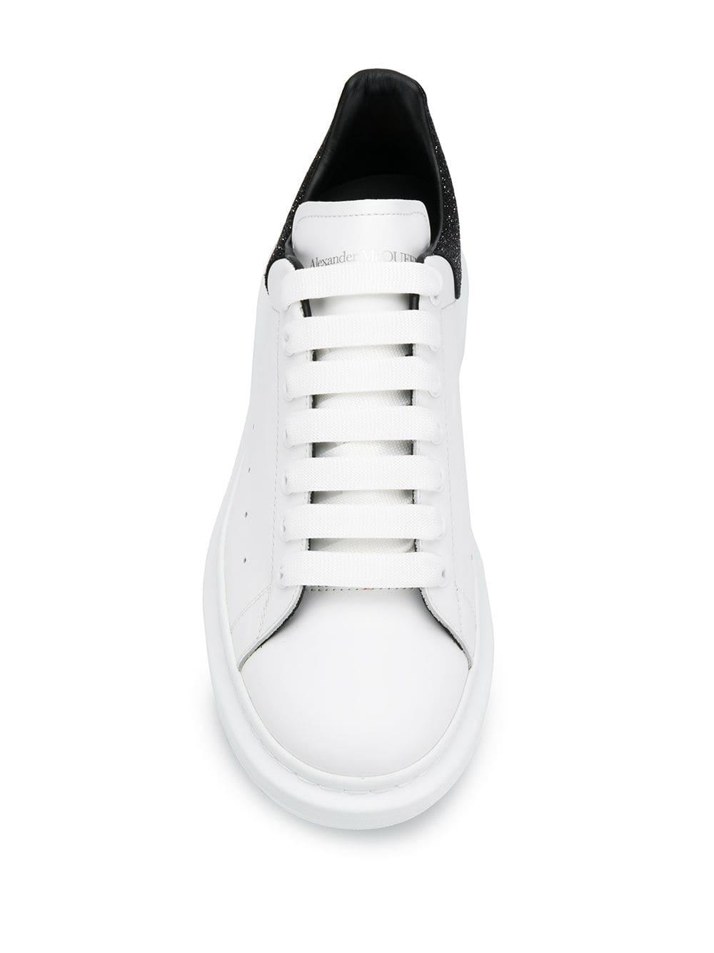 Baskets Oversized Cuir Alexander McQueen en coloris Blanc vlG5