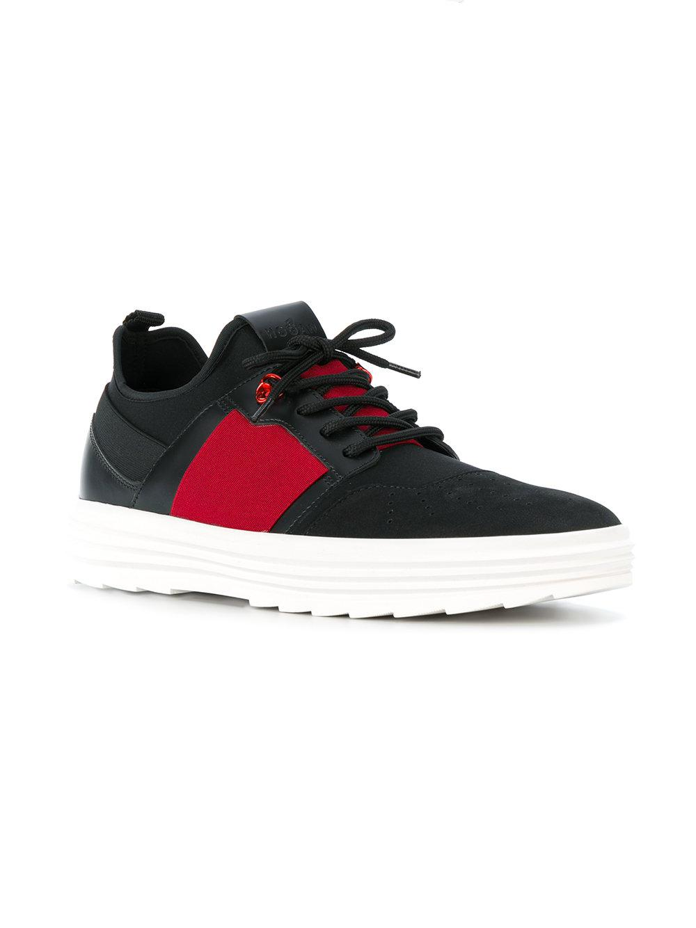 Hogan Leather H341 Helix Sneakers in Black for Men - Lyst