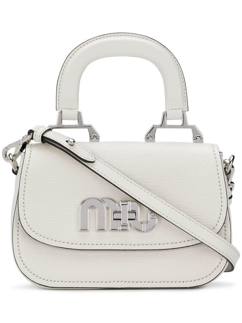 d667691605d3 Miu Miu Madras Crossbody Bag in White - Lyst