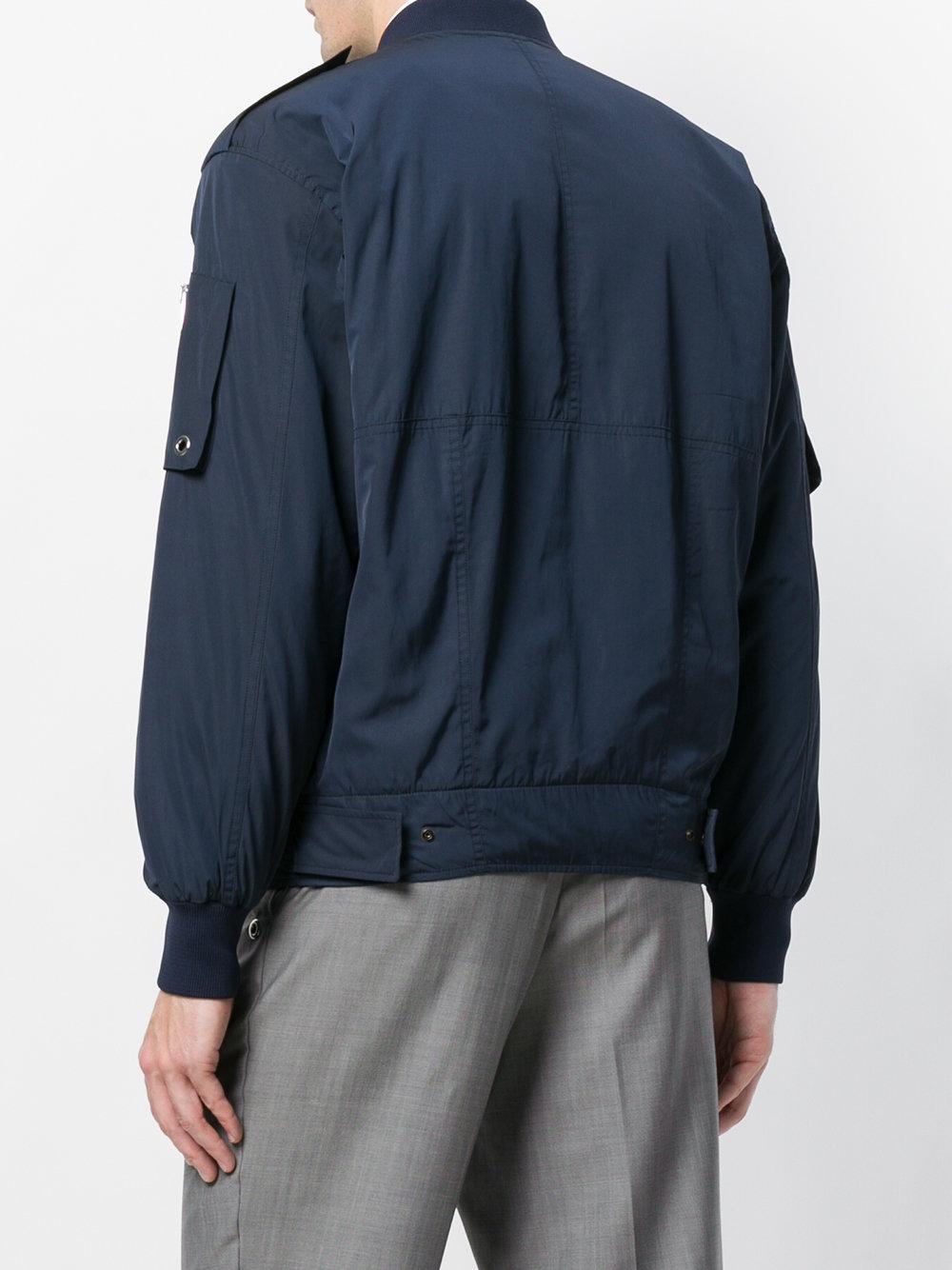 Etudes Studio Cotton Radio Bomber Jacket in Blue for Men