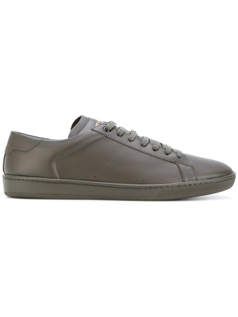 1b6f8547f3a4 Lyst - Saint Laurent Signature Court Classic Sl 01 Sneakers in Green ...