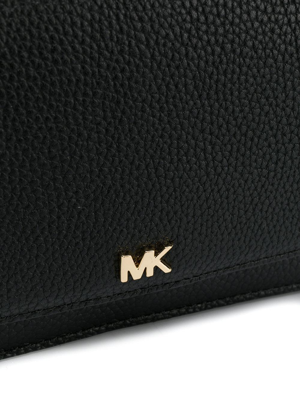 Michael Kors Leather Pebble Convertible Crossbody in Black